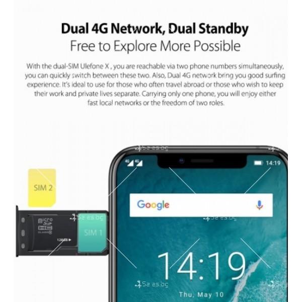 """Уникален 8 ядрен Android 8.1 смартфон с 5.85"""" дисплей, 3300 mAh батерия, Dual Sim 5"""