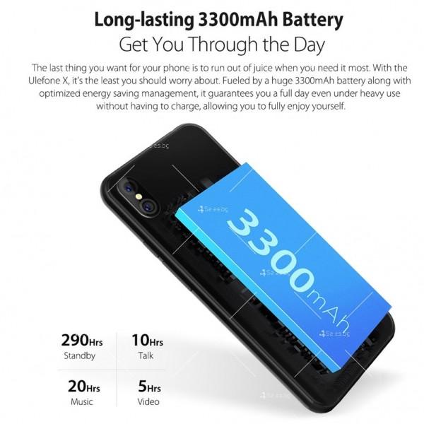 """Уникален 8 ядрен Android 8.1 смартфон с 5.85"""" дисплей, 3300 mAh батерия, Dual Sim 13"""