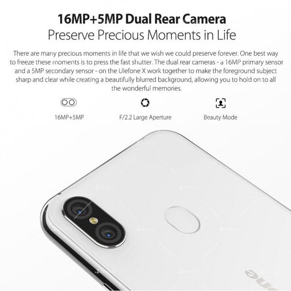 """Уникален 8 ядрен Android 8.1 смартфон с 5.85"""" дисплей, 3300 mAh батерия, Dual Sim 15"""