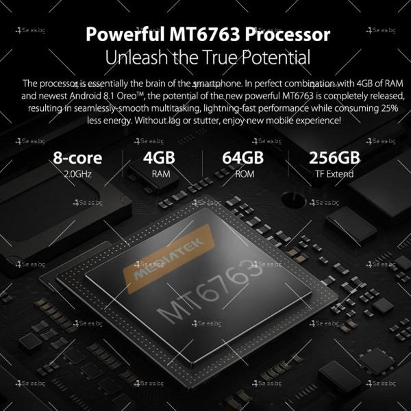 """Уникален 8 ядрен Android 8.1 смартфон с 5.85"""" дисплей, 3300 mAh батерия, Dual Sim 17"""