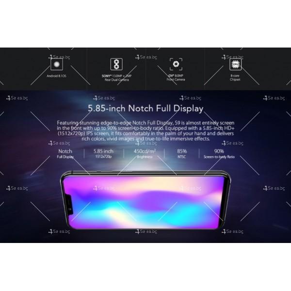 Нов модел смартфон с Android 8.1, 4GB RAM, бърз 8-ядрен процесор, мощна батерия 7