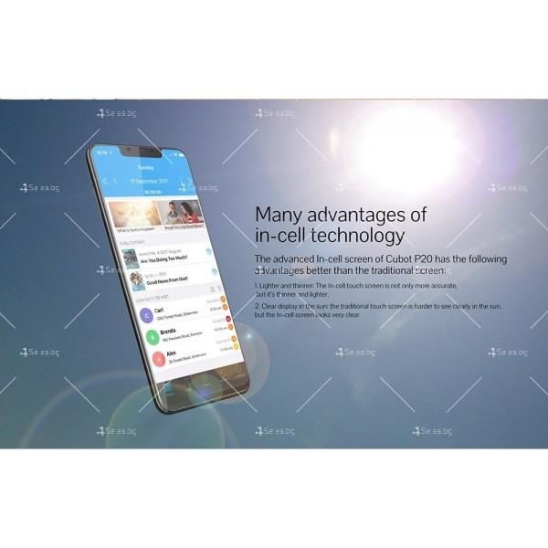 Телефон CUBOT P20, 6.18 инча 2К с 4GB RAM, 4000 mAh батерия, 2 Sim, Android 8 1