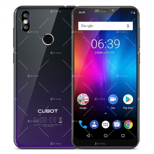 Телефон CUBOT P20, 6.18 инча 2К с 4GB RAM, 4000 mAh батерия, 2 Sim, Android 8 25