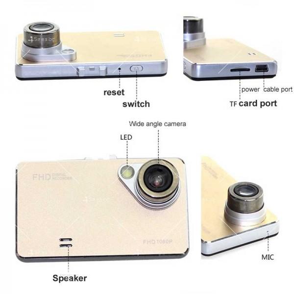Стилен DVR в златисто или черно с 2,4 инча екран и голям ъгъл на виждане AC81 21
