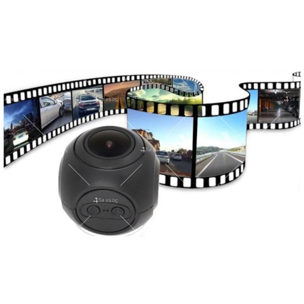 WI-FI мини сферична автомобилна камера, 170 градусов ъгъл и нощен запис AC79 8