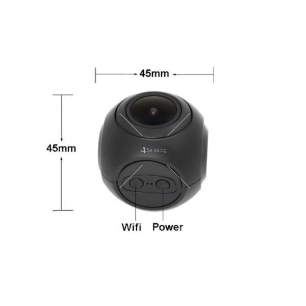 WI-FI мини сферична автомобилна камера, 170 градусов ъгъл и нощен запис AC79 13