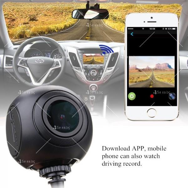 WI-FI мини сферична автомобилна камера, 170 градусов ъгъл и нощен запис AC79 18