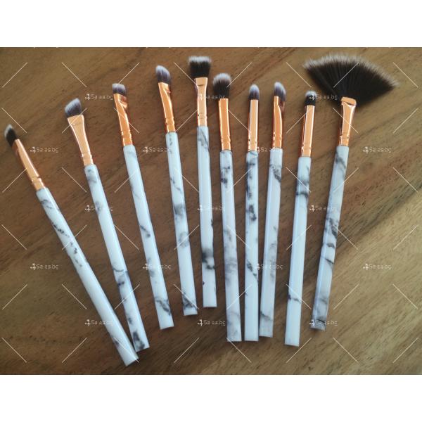 Комплект за очи с 10 броя козметични четки HZS98 4