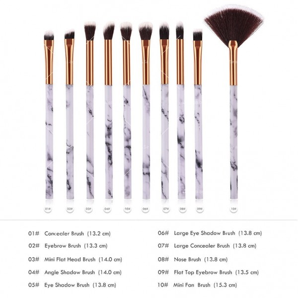 Комплект за очи с 10 броя козметични четки HZS98 15