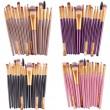 Колекция четки за грим с дървени дръжки в различен цвят 15 броя HZS100 9