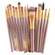 Колекция четки за грим с дървени дръжки в различен цвят 15 броя HZS100 16