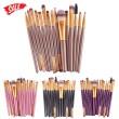 Колекция четки за грим с дървени дръжки в различен цвят 15 броя HZS100 17