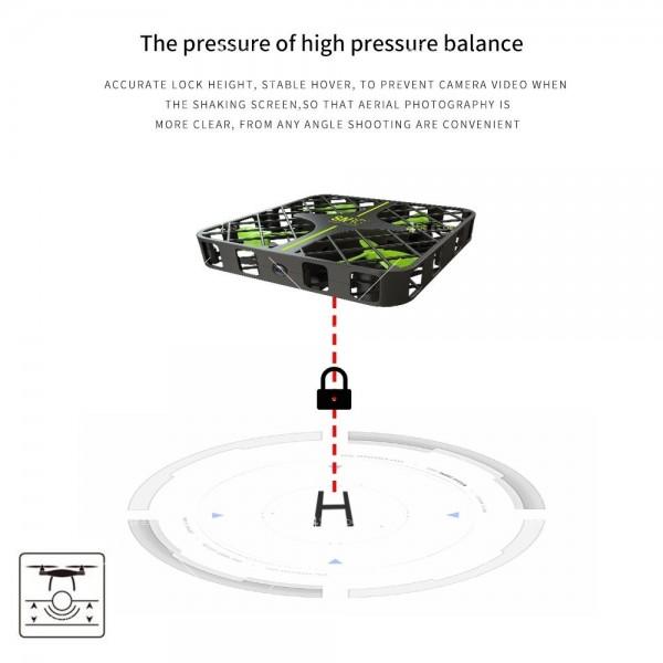 Мини дрон с пълна протекция на перките и камера с видео в реално време M8S 8