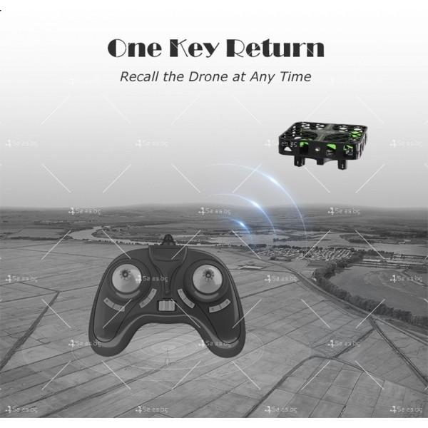 Мини дрон с пълна протекция на перките и камера с видео в реално време M8S 11