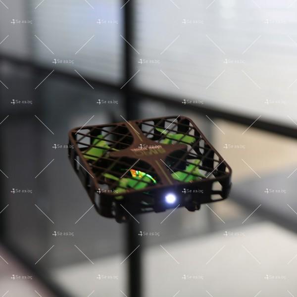 Мини дрон с пълна протекция на перките и камера с видео в реално време M8S 17
