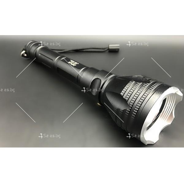 Алуминиево фенерче Т6, подходящо при гмуркане, патрулиране, лов и риболов FL17 3