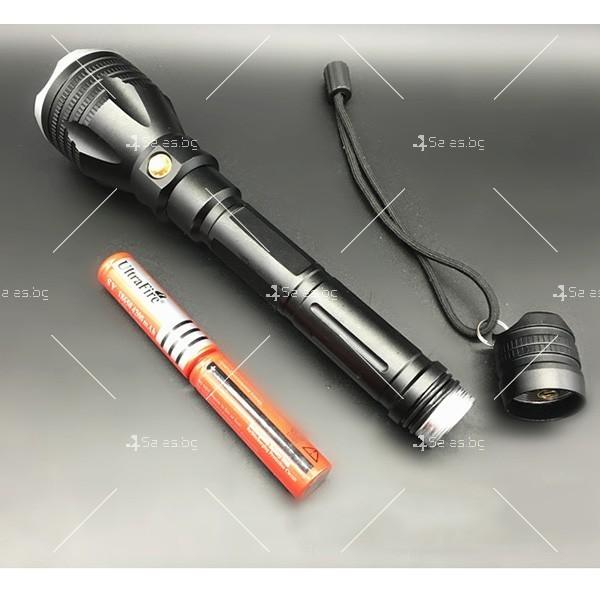 Алуминиево фенерче Т6, подходящо при гмуркане, патрулиране, лов и риболов FL17 4