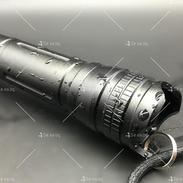 Алуминиево фенерче Т6, подходящо при гмуркане, патрулиране, лов и риболов FL17 5