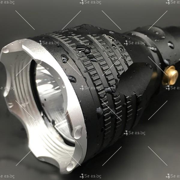Алуминиево фенерче Т6, подходящо при гмуркане, патрулиране, лов и риболов FL17 6