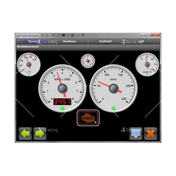 Мини Bluetooth OBD 2 уред за автомобилна диагностика AutoScan5 2