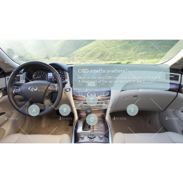 Мини Bluetooth OBD 2 уред за автомобилна диагностика AutoScan5 4