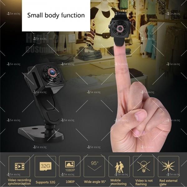 Портативна мини камера с 1080Р резолюция и подобрени нощни снимки SC14 7