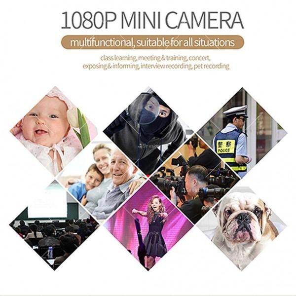 Портативна мини камера с 1080Р резолюция и подобрени нощни снимки SC14 9