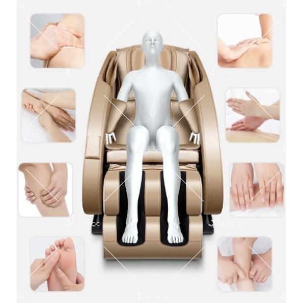 Луксозен масажен стол с ефект на космическа капсула KM868 7