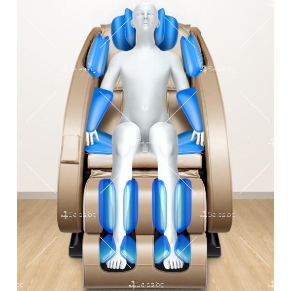 Луксозен масажен стол с ефект на космическа капсула KM868 11