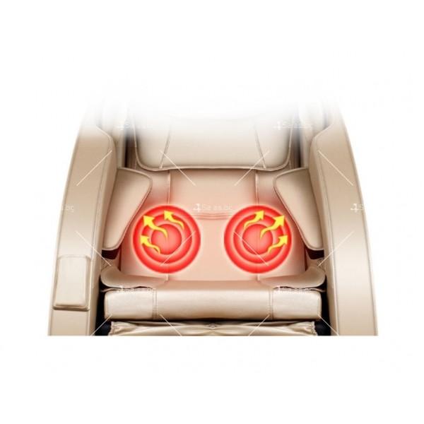 Луксозен масажен стол с ефект на космическа капсула KM868 12