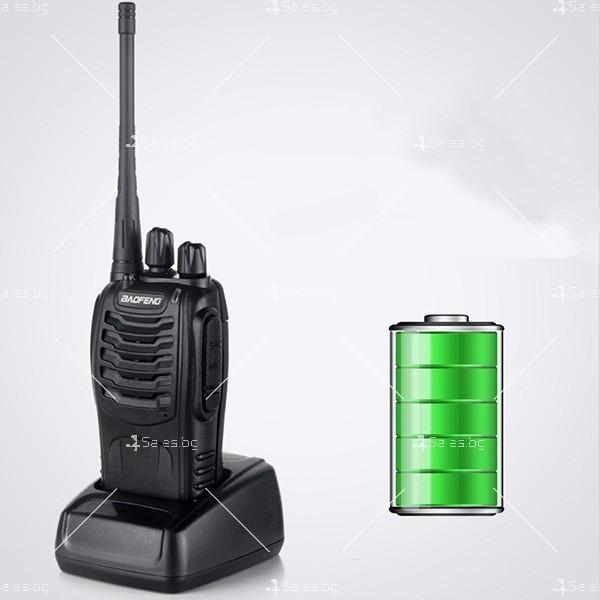 Компактно уоки-токи BF-888S радиостанция, с 16 канала, устойчиво на вода и удар 5
