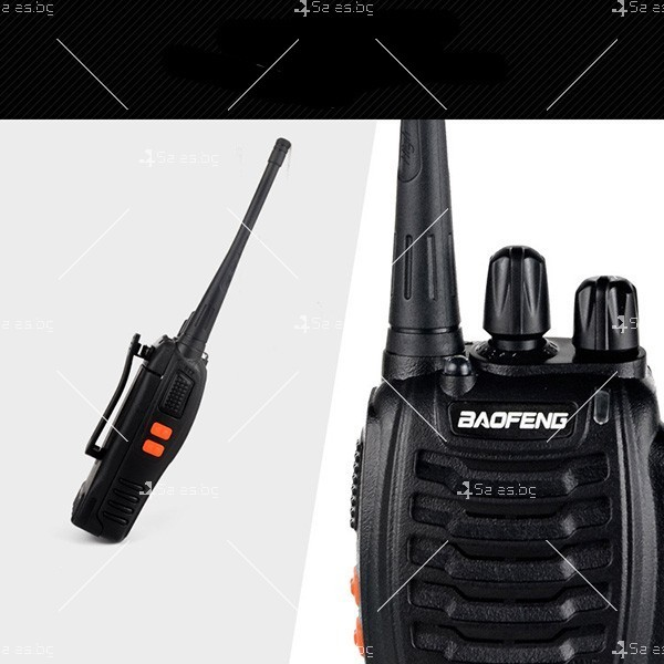Компактно уоки-токи BF-888S радиостанция, с 16 канала, устойчиво на вода и удар 8