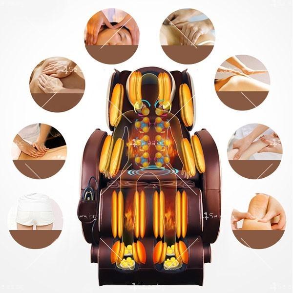 Удобен мултифункционален масажен стол с накланяне в хоризонтално положение KM858A 3