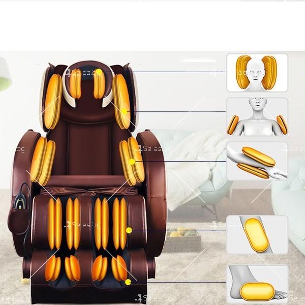 Удобен мултифункционален масажен стол с накланяне в хоризонтално положение KM858A 8