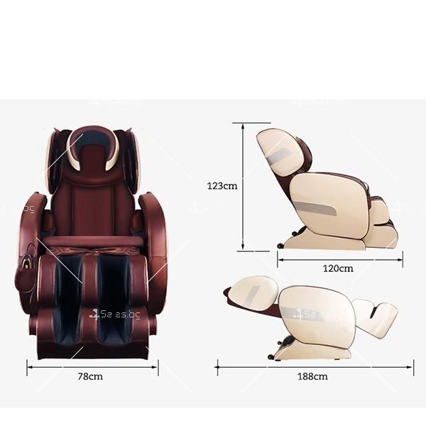 Удобен мултифункционален масажен стол с накланяне в хоризонтално положение KM858A 14