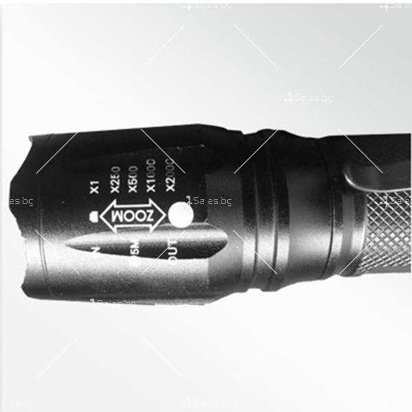 Фенерче Т6 (GD-188) , телескопично, светодиодно, с алуминиев корпус FL25 9