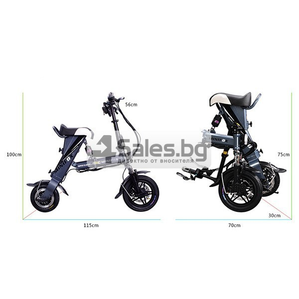 Сгъваем електрически велосипед C1 в три варианта BIKE-1 12 inch 16