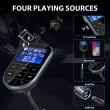Bluetooth трансмитер за кола с голям екран, MP3, FM, USB, хендсфри, зарядно HF32 2