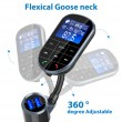 Bluetooth трансмитер за кола с голям екран, MP3, FM, USB, хендсфри, зарядно HF32 4