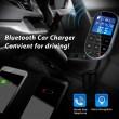 Bluetooth трансмитер за кола с голям екран, MP3, FM, USB, хендсфри, зарядно HF32 5