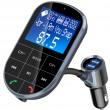 Bluetooth трансмитер за кола с голям екран, MP3, FM, USB, хендсфри, зарядно HF32 6