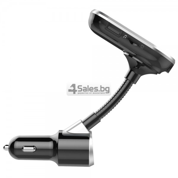 Bluetooth трансмитер за кола с голям екран, MP3, FM, USB, хендсфри, зарядно HF32 15