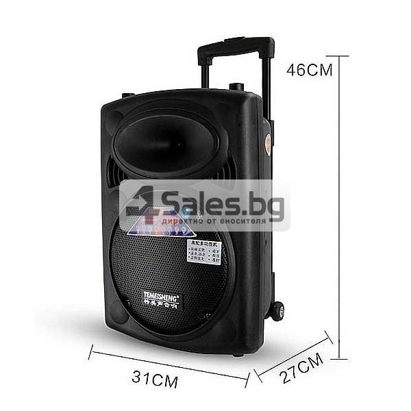 Преносима караоке колона с еквалайзер, радио и USB порт Temeisheng DP - 107 S 7