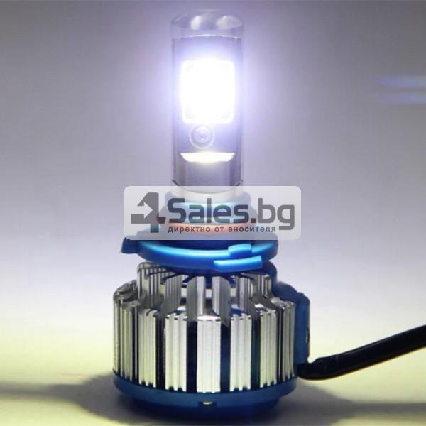 Автомобилни лед светлини против мъгла тип H4 с преобразувател Т1 CAR LED14 5