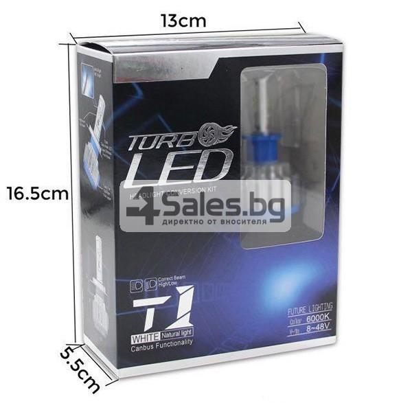 Автомобилни лед светлини против мъгла тип H7 с преобразувател Т1 CAR LED13 4