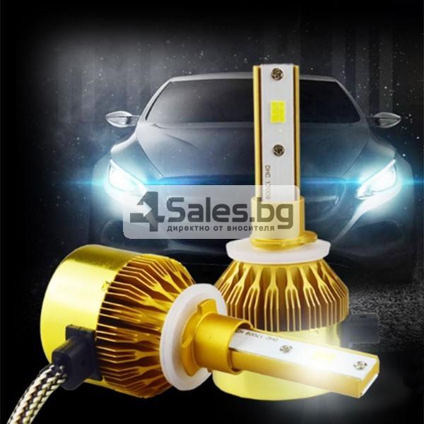 Лед светлини за предни фарове със супер ярък цвят 5500 К тип H 7, 9005 CAR LED16 3