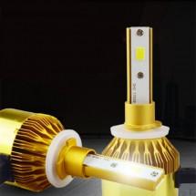 Лед светлини за предни фарове със супер ярък цвят 5500 К тип H 4, 9006