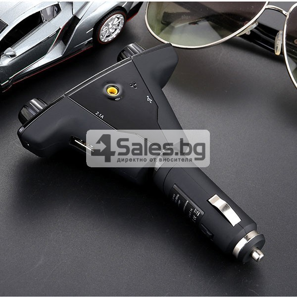 Многофункционален предавател за кола, Bluetooth плейър, mp3, зарядно HF30 11