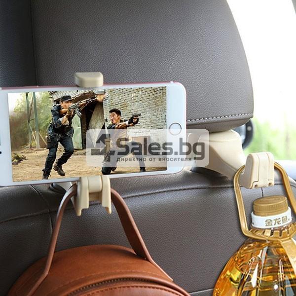 Държач за смартфона при задните места на колата AUTO CHAIR CASE 2