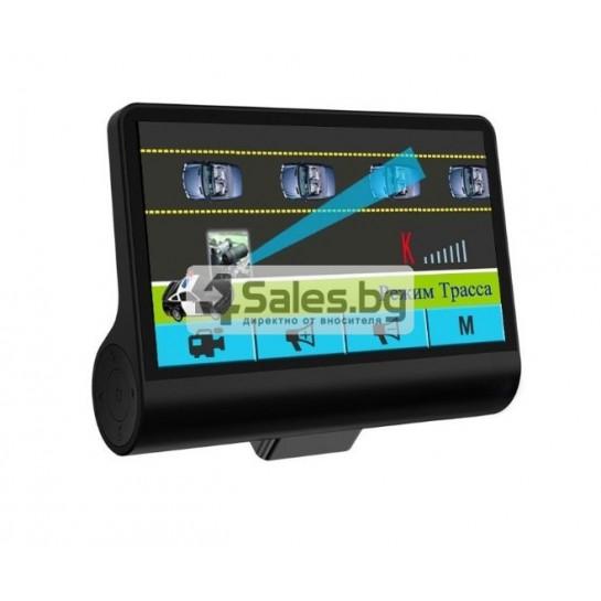 Компактен FULL HD видеорегистратор с голям 4 инчов дисплей и две камери AC50B